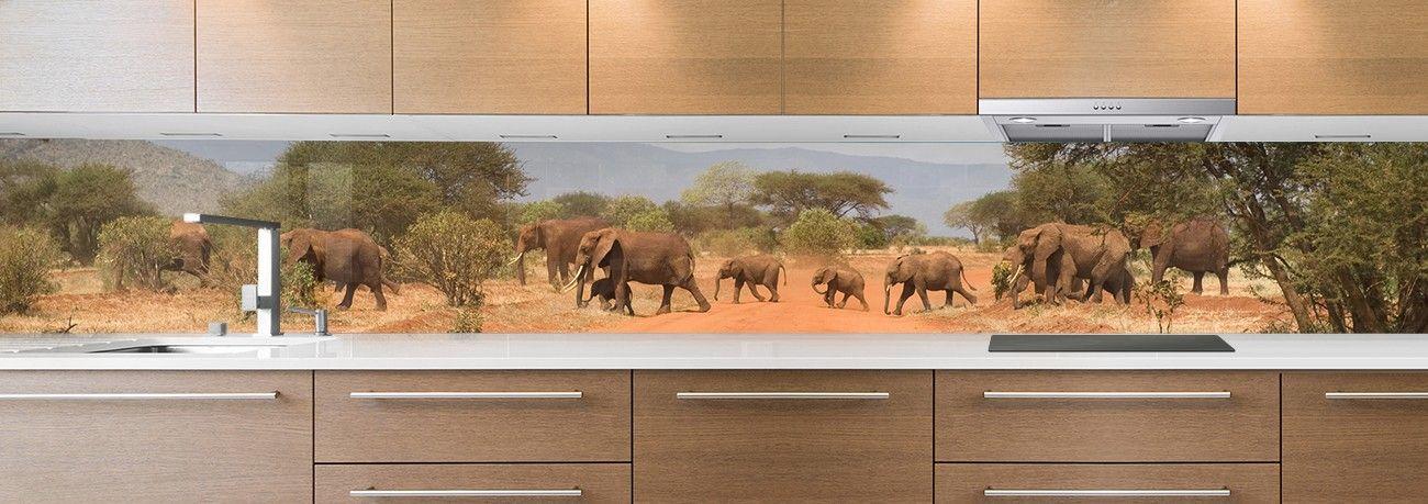 crédence troupeau d'éléphants