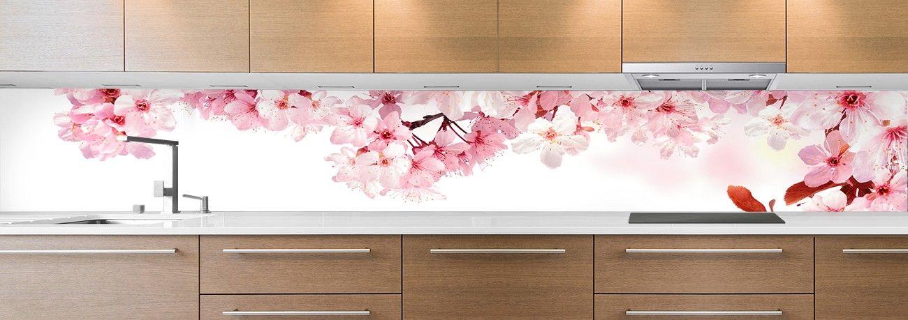 crédence fleurs de cerisier
