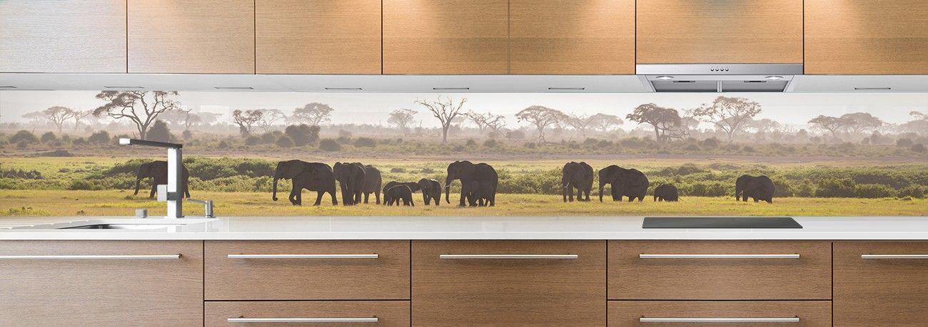 crédence famille d'éléphants