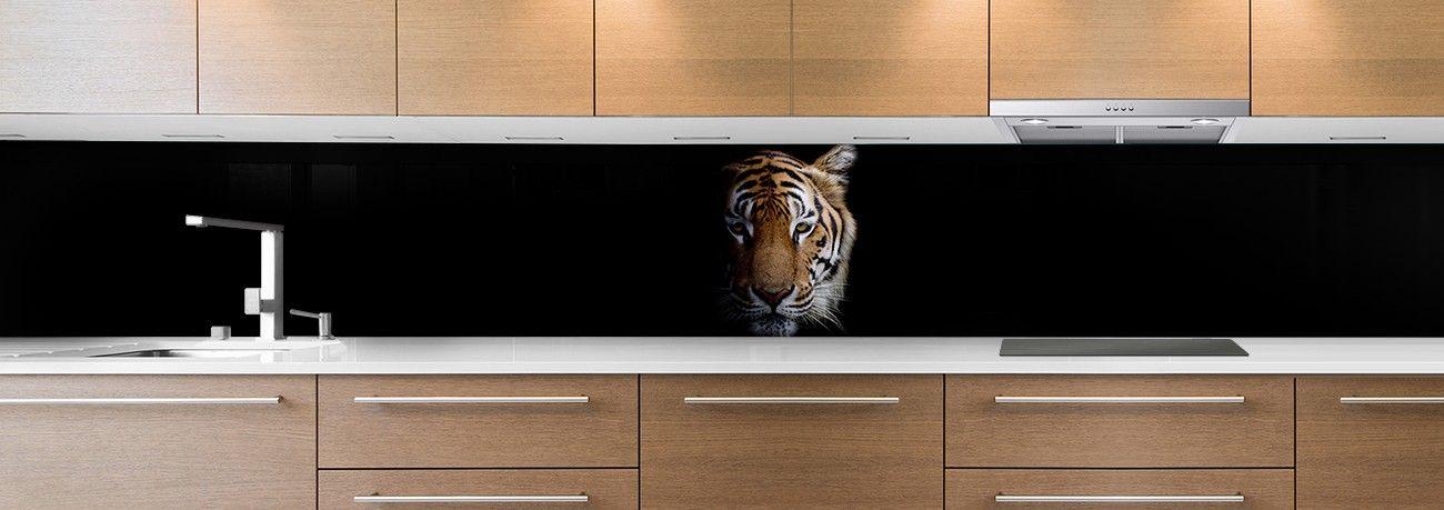 crédence tête tigre