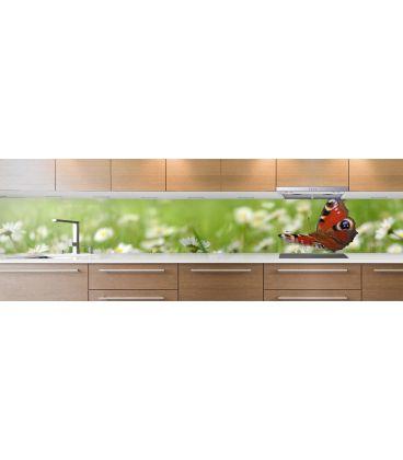 cr dence de cuisine sur mesure cr dence papillon. Black Bedroom Furniture Sets. Home Design Ideas