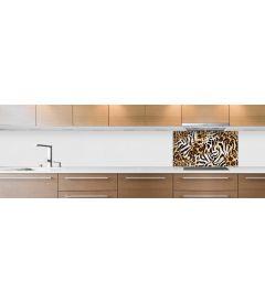 crédence pelage léopard fond hotte