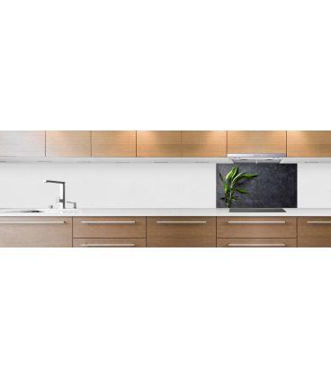 cr dence de cuisine sur mesure cr dence bamboo ardoise fond hotte. Black Bedroom Furniture Sets. Home Design Ideas