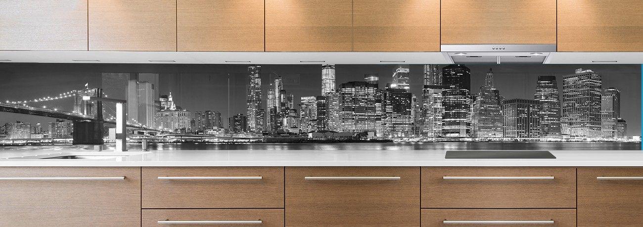 Cr dence de cuisine avec photo de villes cr dence de cuisine for Credence cuisine noir et blanc