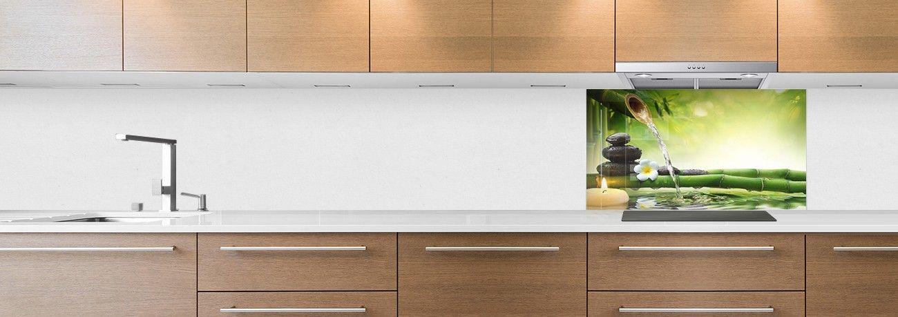 cr dence de cuisine sur mesure cr dence bassin zen fond hotte. Black Bedroom Furniture Sets. Home Design Ideas