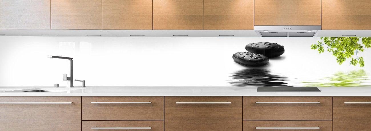 cr dence de cuisine sur mesure cr dence pierres zen 5. Black Bedroom Furniture Sets. Home Design Ideas