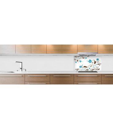cr dence de cuisine sur mesure cr dence abstrait fond de hotte v g tation marron. Black Bedroom Furniture Sets. Home Design Ideas