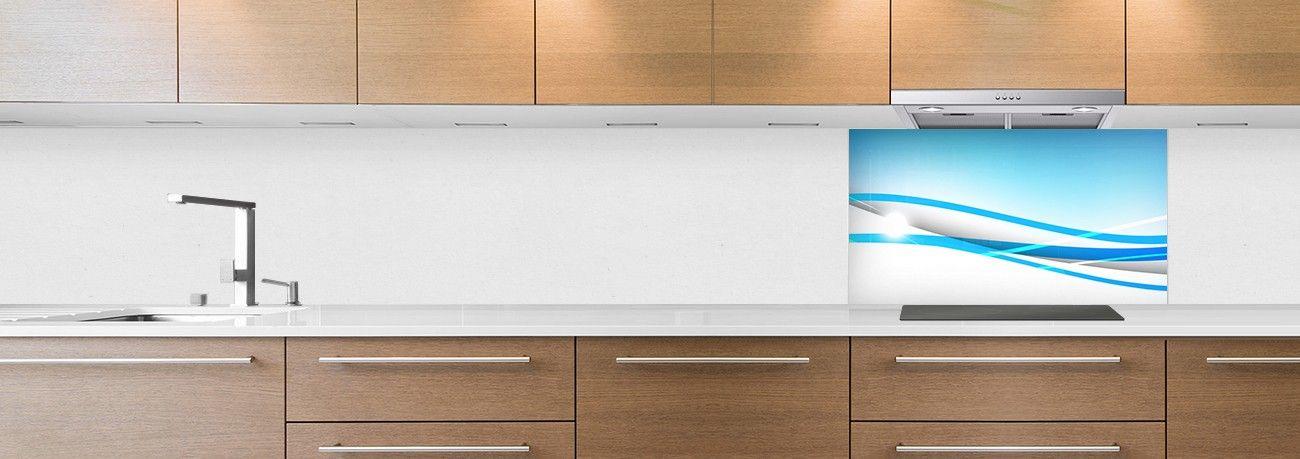 cr dence de cuisine sur mesure cr dence abstrait fond de hotte ligne bleu. Black Bedroom Furniture Sets. Home Design Ideas