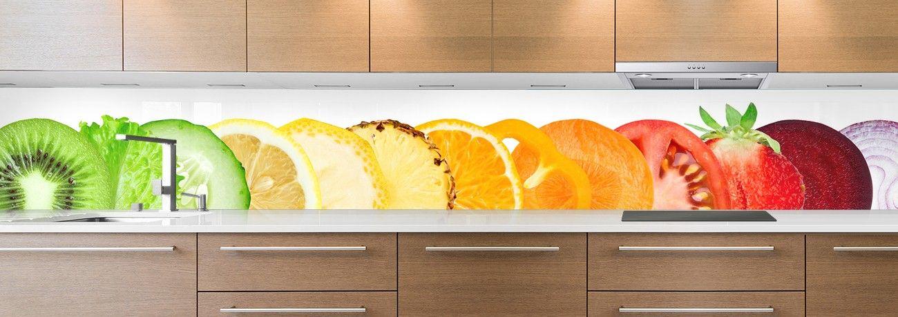 crédence aliment fruits & légumes alignés