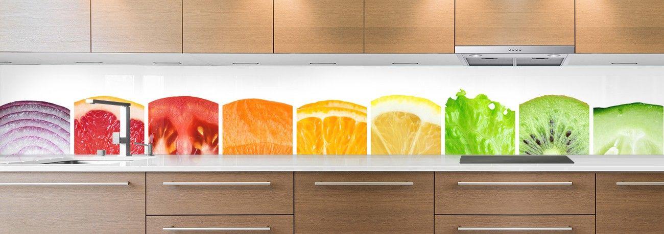 crédence aliment zoom fruits & légumes