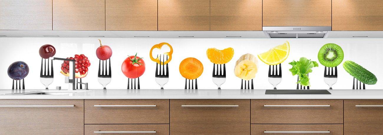 crédence aliment fourchettes fruits & légumes