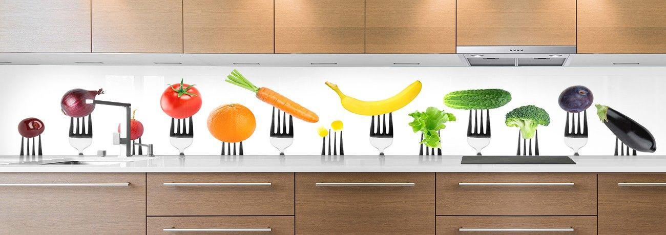 crédence aliment fourchettes fruits & légumes entier