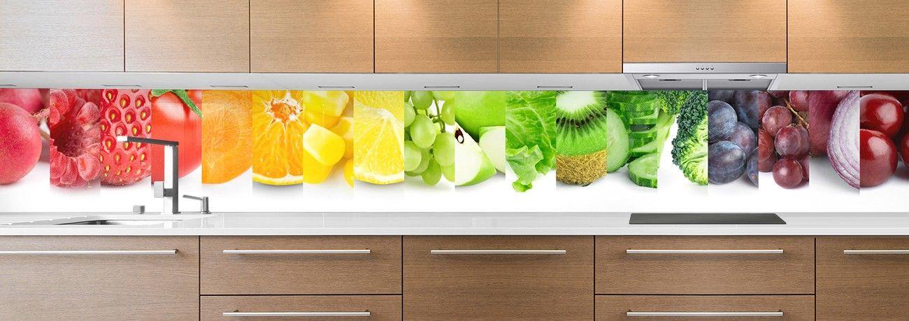 crédence aliment macro fruits & légumes