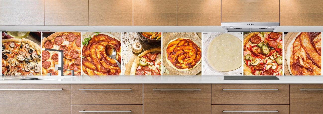 crédence aliment pizzas tartes