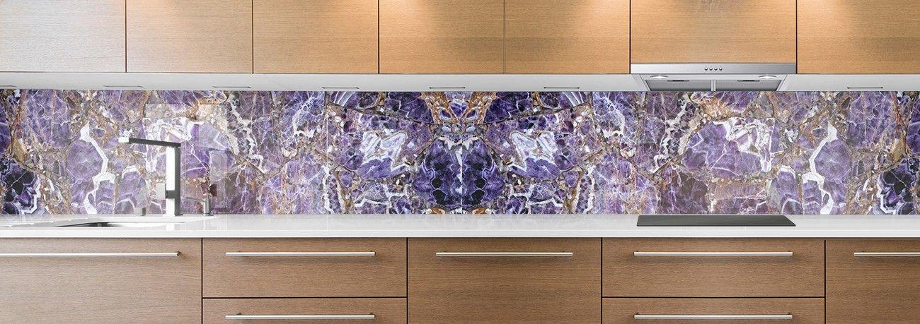 crédence marbre violet