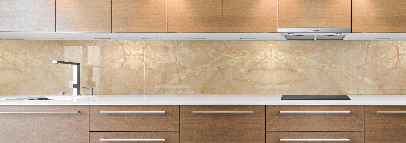 crédence de cuisine sur mesure crédence marbre brun
