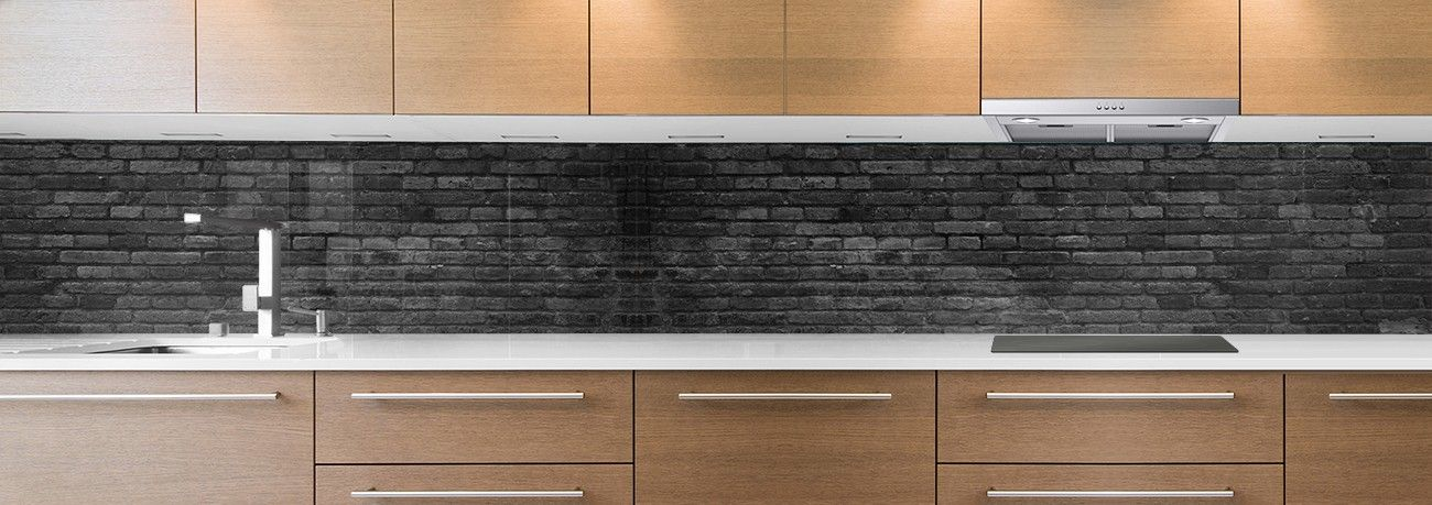 crédence briques noires