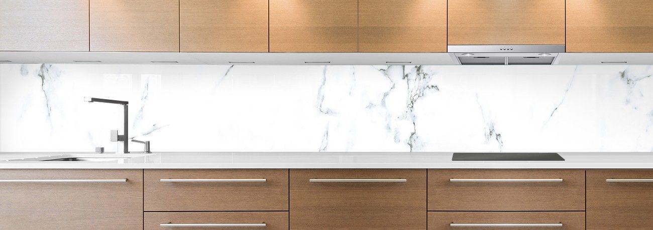 crédence de cuisine sur mesure crédence marbre blanc