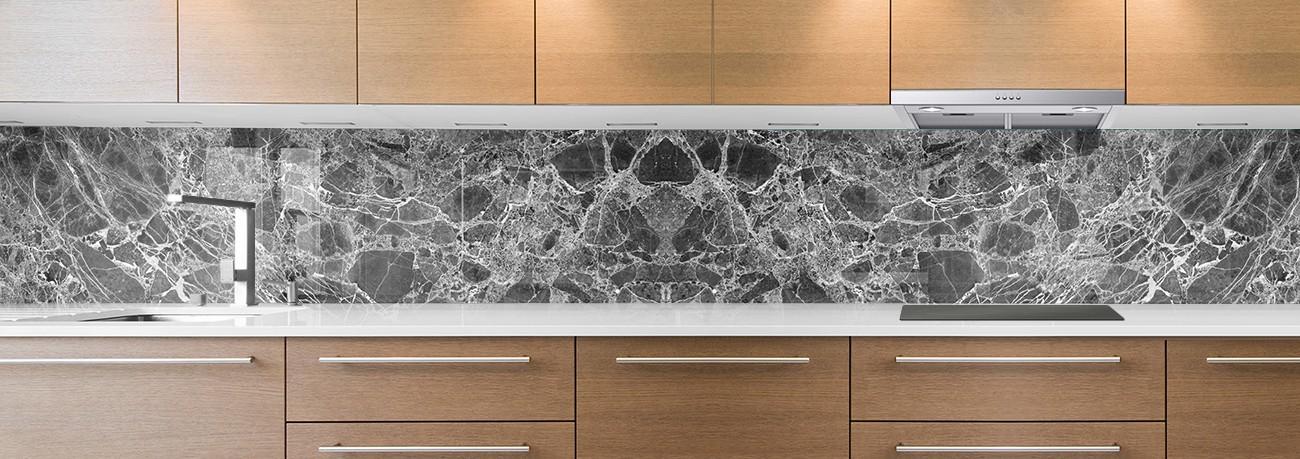 crédence de cuisine sur mesure crédence marbre noir