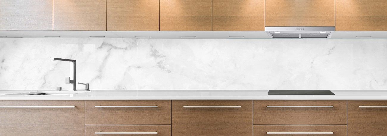 crédence marbre blanc lisse