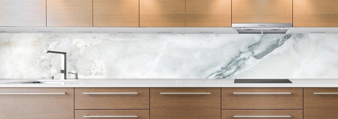 crédence marbre blanc