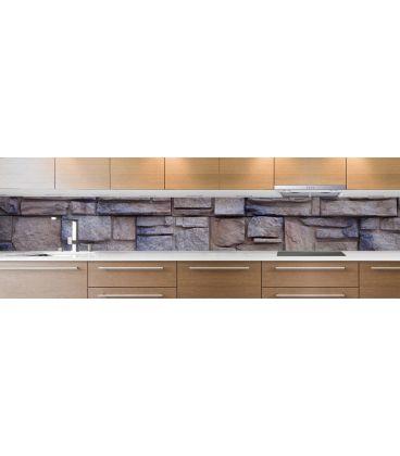 cr dence de cuisine sur mesure cr dence pierres grises. Black Bedroom Furniture Sets. Home Design Ideas