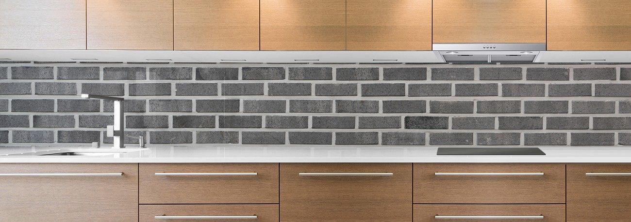 crédence briques grises