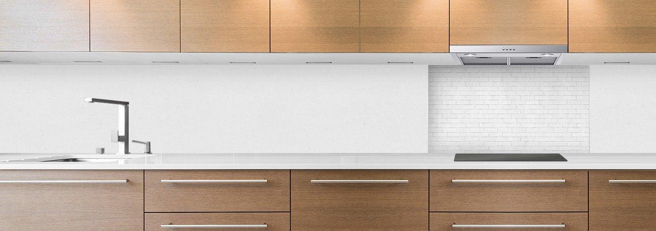 crédence briques blanches symetrique hotte