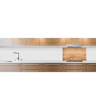 Cr dence de cuisine sur mesure cr dence plateau bois clair for Plateau bois cuisine