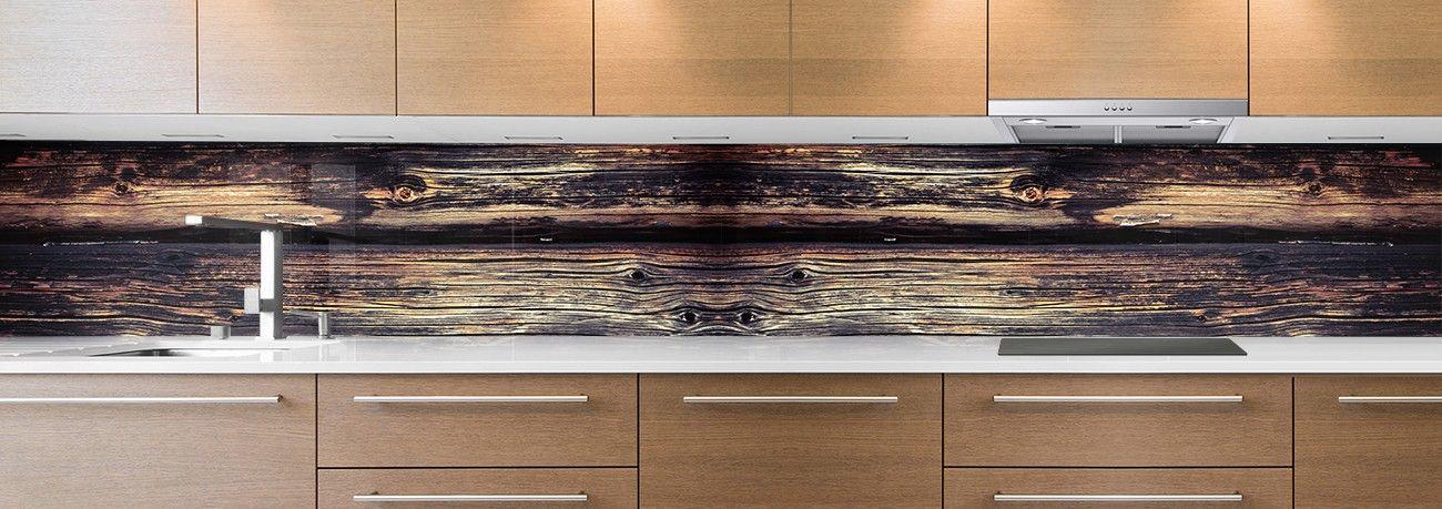 votre cr dence de cuisine avec un motif bois pour redonner du naturel votre int rieur. Black Bedroom Furniture Sets. Home Design Ideas