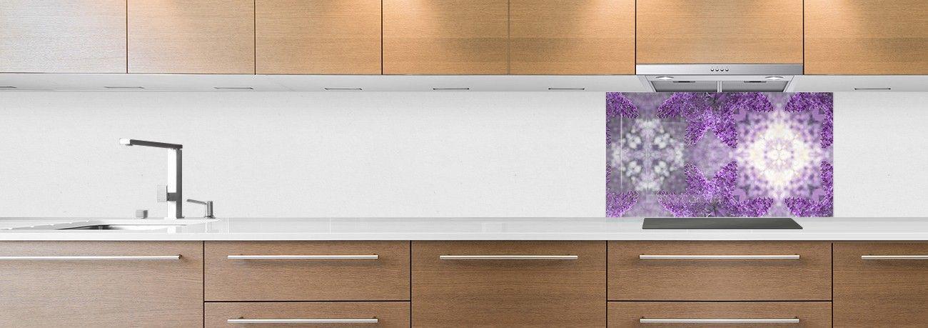 fond de hotte mosaïque violette grosse