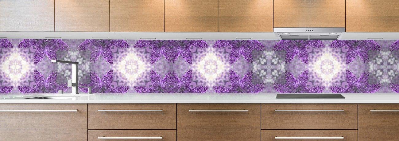 crédence mosaique violette grosse