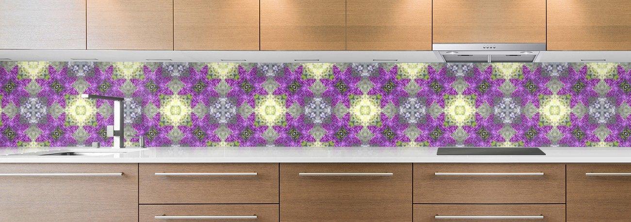 crédence de cuisine sur mesure crédence mosaique violette petite