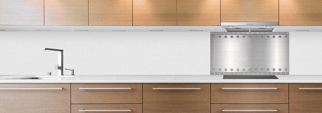 crédence plaque aluminium hotte
