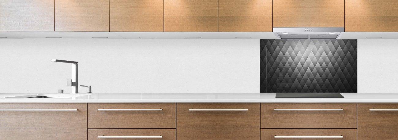 Fond et texture cr dence de cuisine for Credence cuisine noir et blanc