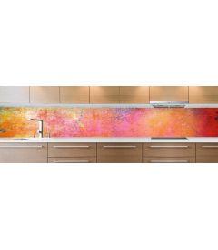 crédence peinture multicolore