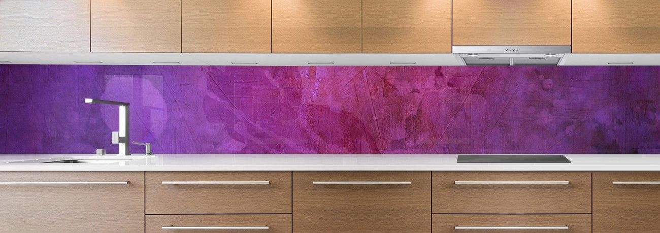 Cr dence de cuisine sur mesure cr dence peinture violette for Peinture cuisine violet