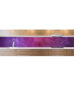 crédence peinture violette