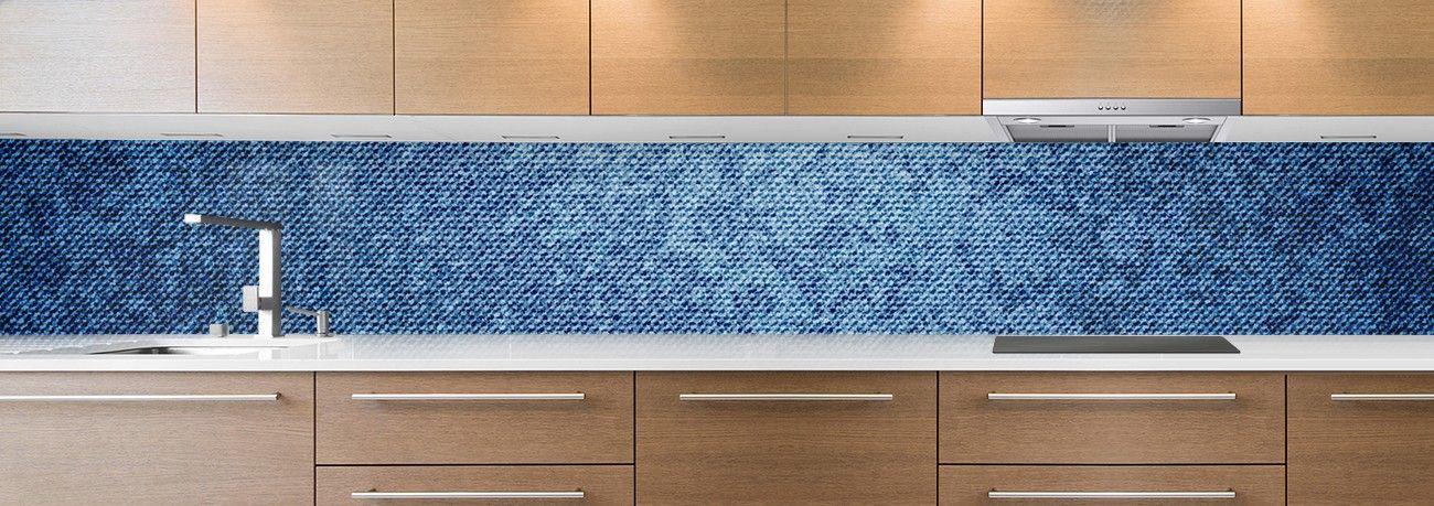 cr dence de cuisine sur mesure cr dence usure bleu. Black Bedroom Furniture Sets. Home Design Ideas
