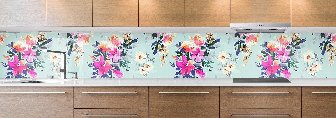 crédence peinture fleurs