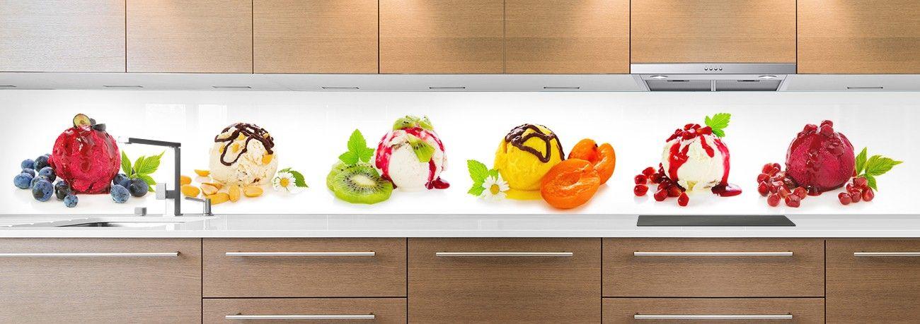 crédence boules de glace fruits