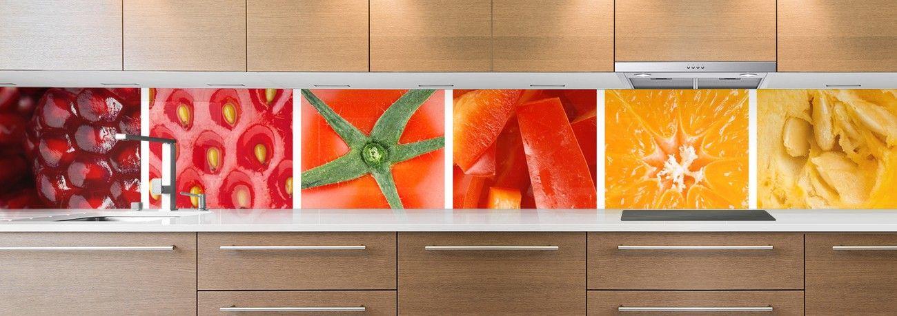 crédence fruits & légumes rouges