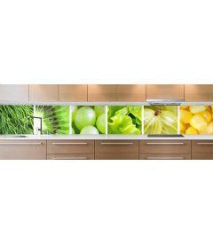 crédence fruits & légumes verts